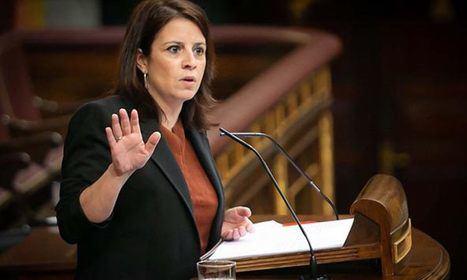 Adriana Lastra en su última intervención en el Congreso (9-4-2020). (Foto: PSOE.es)