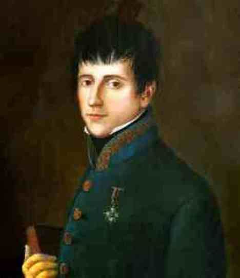 Retrato (anónimo) del General Rafael del Riego (1784 - 1823).