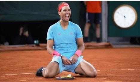 Rafael Nadal tras su triunfo sobre Novak Djokovic. (Foto: S. Boué/L'Équipe)
