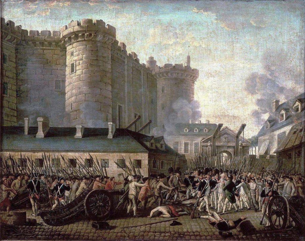 Revolución francesa. Toma de La Bastilla. (Anónimo). (en.wikipedia.org/wiki/French_Revolution).