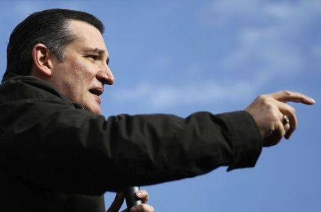 El candidato republicano Ted Cruz
