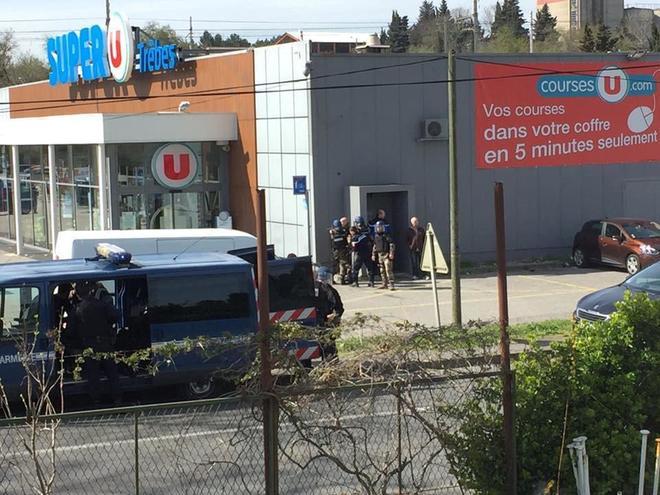 Supermercado de Trebes donde el terrorista permanecía atrincherado. REUTERS