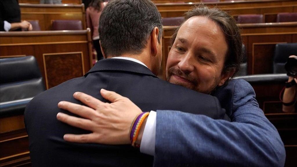 Pedro Sánchez y Pablo Iglesias. (Foto: El Periódico).