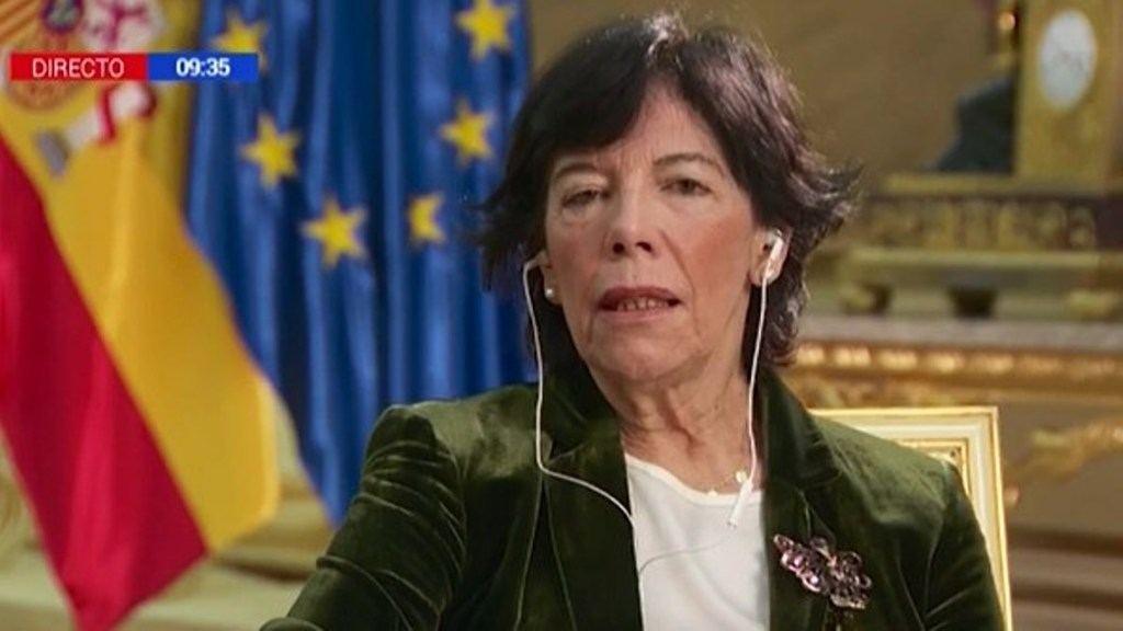 La ministra Celaá: '...desafección a las instituciones del Gobierno'. Foto: RTVE.