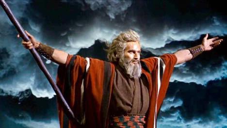 Charlton Heston, Moisés en 'Los Diez Mandamientos'.