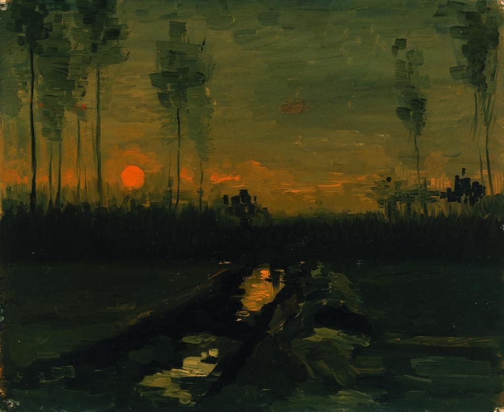 'Paisaje al atardecer', Vincent van Gogh. (© Museo Nacional Thyssen-Bornemisza, Madrid)