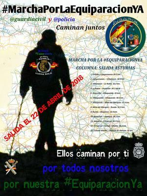 JUSAPOL anuncia una marcha de Policías Nacionales y Guardias Civiles de toda España hacia Madrid