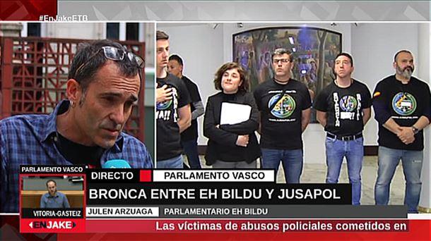 Bronca en el Parlamento vasco el 3 de abril de 2019. (www.eitb.eus)