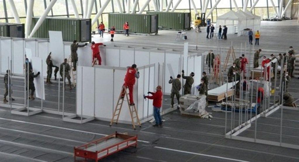Efectivos de Ingenieros trabajando en el marco de la 'Operación Balmis'