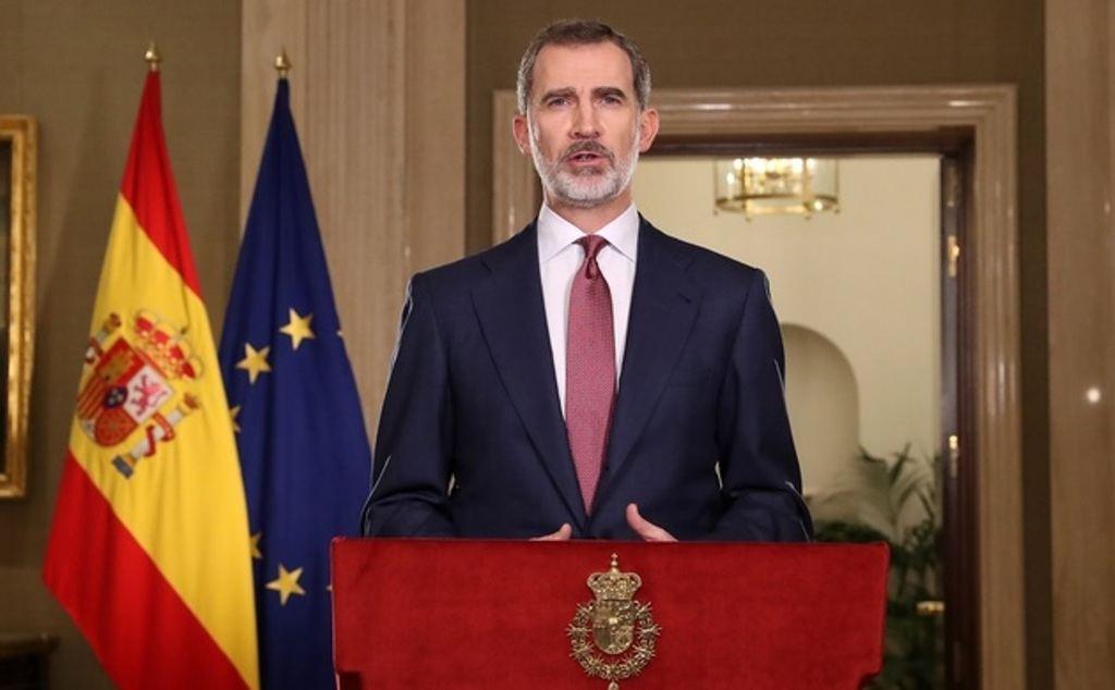 S.M. el Rey Felipe VI dirigiéndose a los españoles en la noche del 18 de marzo de 2020. (Foto: Casa Real)