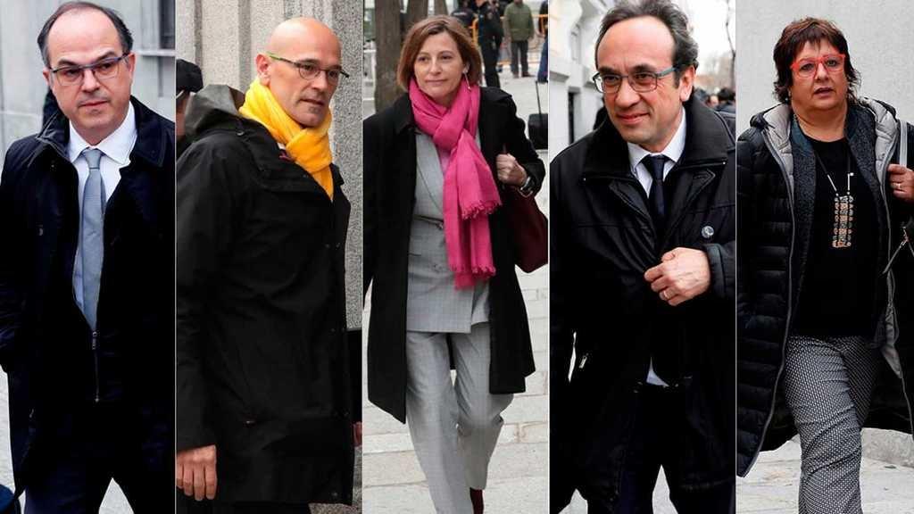 Turull, Romeva, Forcadell, Rull y Bassa a prisión incondicional