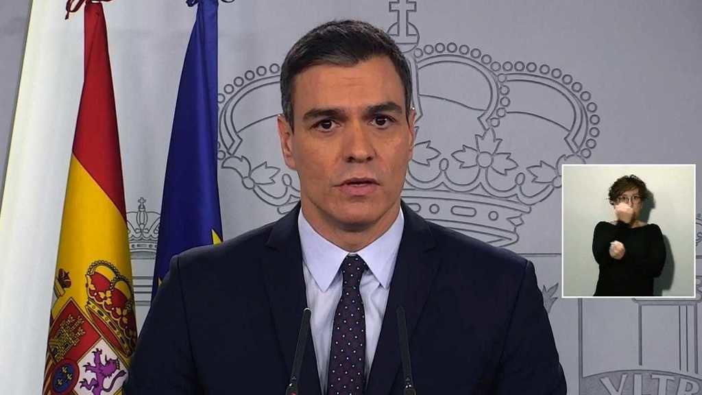 El presidente del Gobierno de España anunciando el plan de choque económico para contener las consecuencias del coronavirus. (Foto: RTVE)