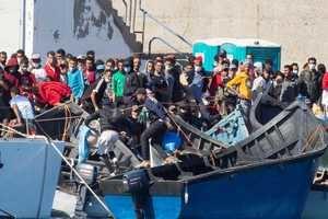 LLegada de inmigrantes a Canarias. (Foto: RTVE).