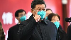 El presidente de China, Xi Jinping, en su visita a Wuham. (Foto: www.eltiempo.com)