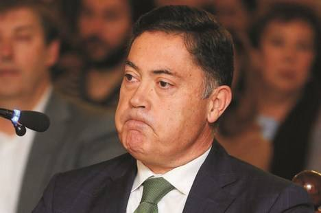 Marcos Martínez, sucesor de Isabel Carrasco en la presidencia de la Diputación de León, durante el juicio. EFE