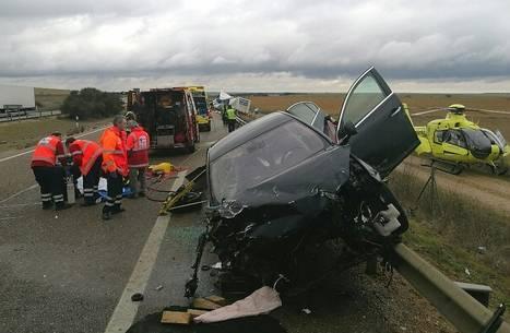 Familia maragata herida en aparatoso accidente en la A6