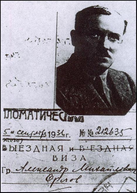 Alexander Orlov, agente del KGB que también pasó por España durante la Guerra Civil...