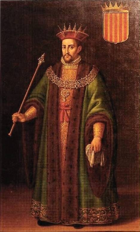 Alfonso II (1164-1196). Rey de Aragón y Conde de Barcelona. Pintura de Rafael Pertús, s. XVII.