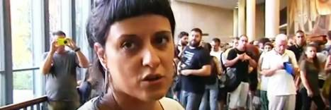 La parlamentaria catalana de extrema izquierda Anna Gabriel