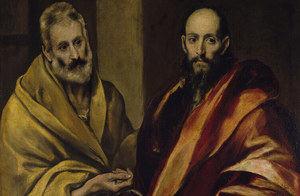 Lienzo de San Pedro y San Pablo (Anónimo reproducido por El Greco), Museo del Prado, Madrid