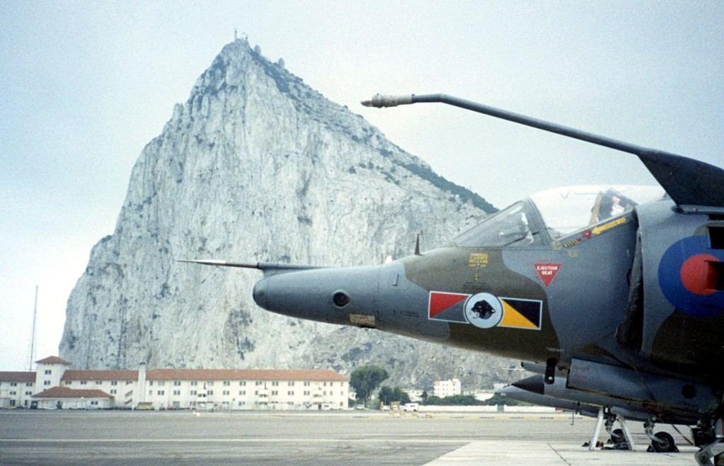 Base aérea de la RAF en Gibraltar. (Wikipedia).