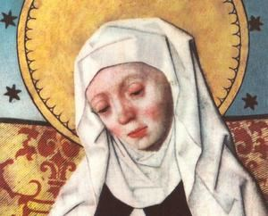 Brígida Birgersdotter (Santa Brígida de Suecia), 1303 - 1373). Retablo de la iglesia de Salem, Suecia (Foto: Wikipedia).