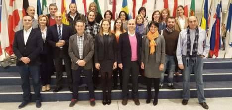 Sadat Maraña y muchos de sus colaboradores en el Parlamento Europeo en noviembre de 2015. Eran otros tiempos...