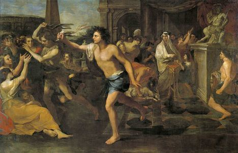 'Fiestas lupercales', óleo sobre lienzo de Andrea Camassei. Museo del Prado, Madrid.