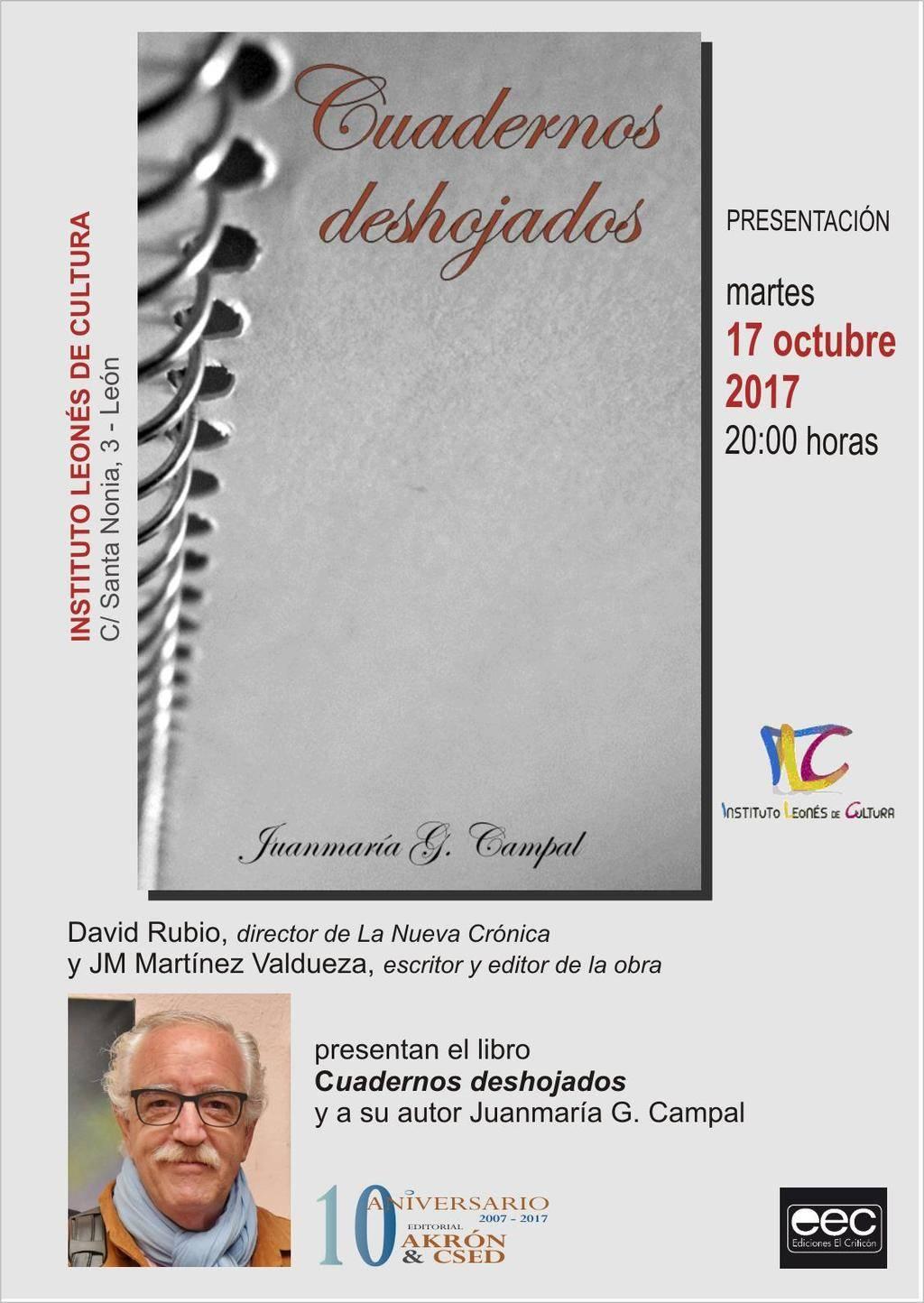 Cuadernos deshojados, de Juanmaría G. Campal