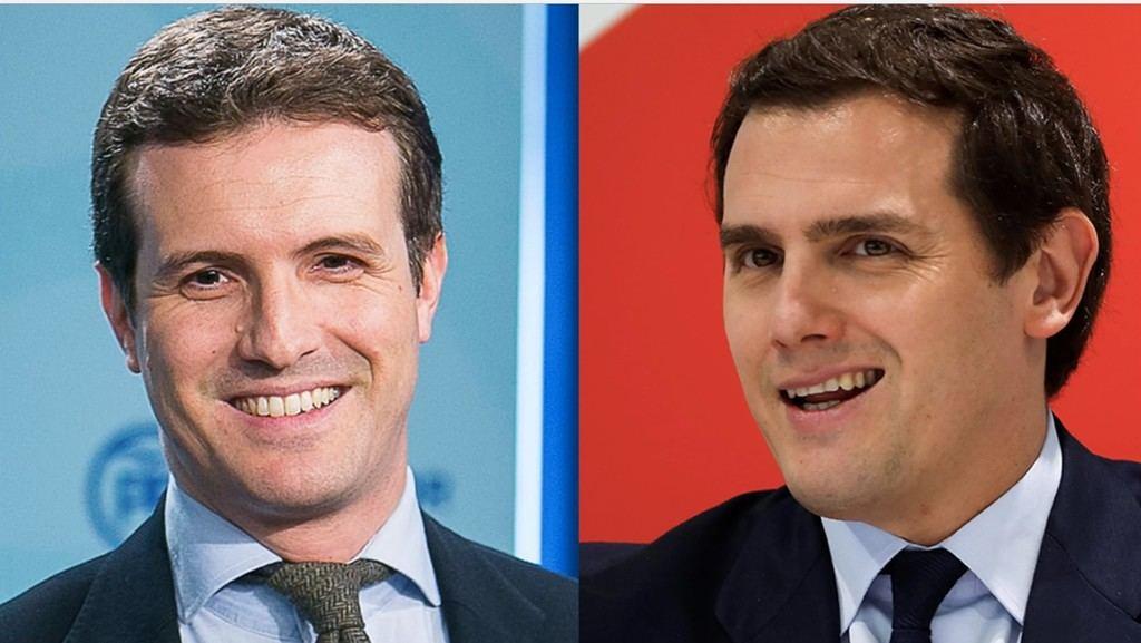 Pablo Casado (Wikimedia Commons/CC BY 0) y Albert Rivera (Sergio Pérez/REUTERS). www.vice.com/es/