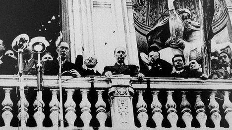 Lluis Companys declara el Estat Catalá en 1934. (Foto de archivo CORDON PRESS)