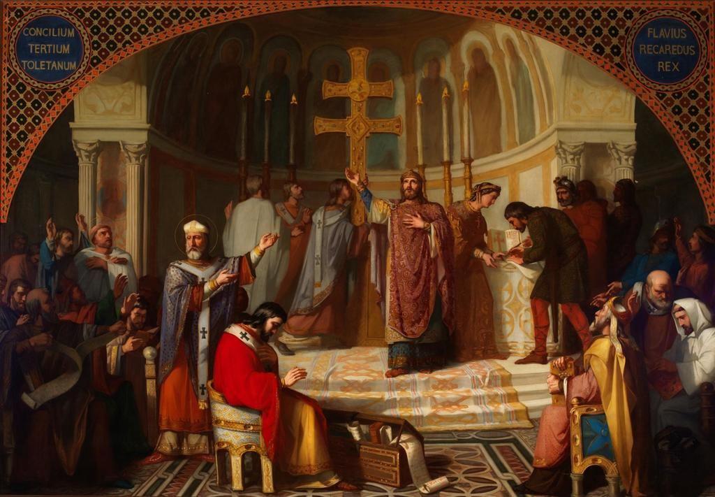 III Concilio de Toledo en el año 589. Óleo de José Martí y Monsó, Museo del Prado, Madrid.