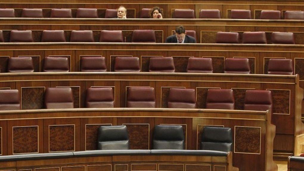 El Congreso de los Diputados vacío durante un pleno