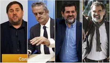 Adiós de Junqueras, Forn, Sánchez y Cuixart a la esperanza de abandonar la cárcel en campaña electoral. (Foto: http://www.laopiniondemalaga.es)