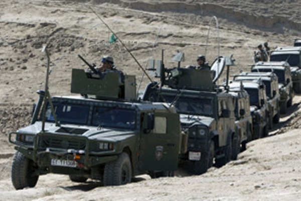 Convoy ISAF de tropas españolas (Foto: Ministerio de Defensa)