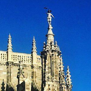 Pedro Mato en la catedral de Astorga.