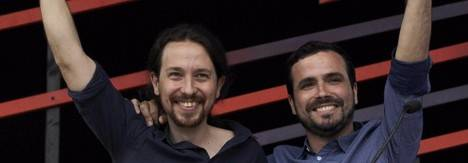 Pablo Iglesias y Alberto Garzón. - Imagen EFE