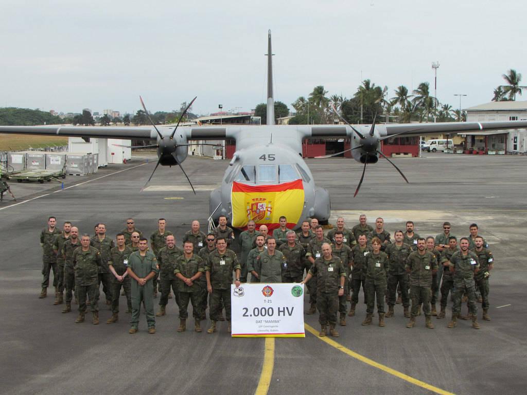 10º contingente Destacamento Mamba, en Gabón. (Foto: Ministerio de Defensa de España)