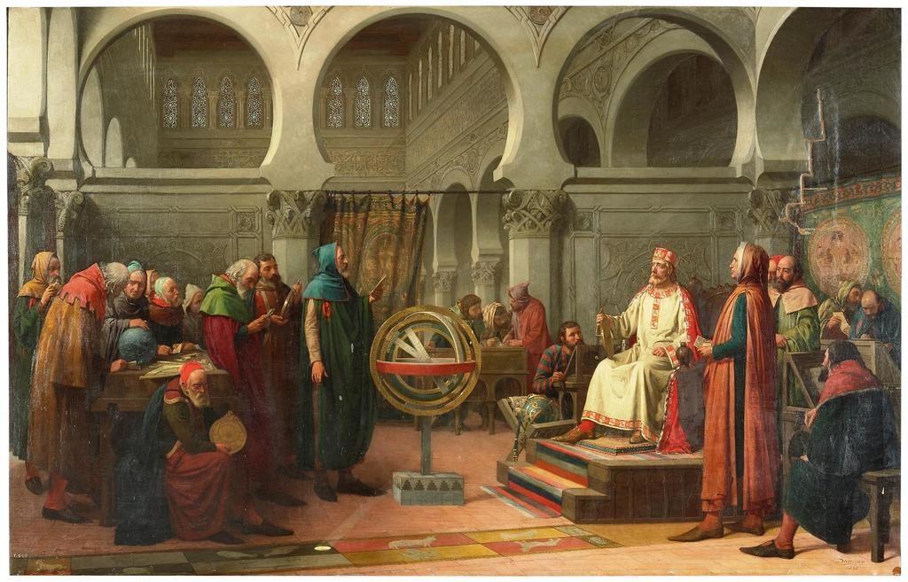 'Don Alfonso El Sabio y los libros del saber de astronomía', de Dióscoro Teófilo Puebla y Tolín. (© Museo Nacional del Prado, Madrid).