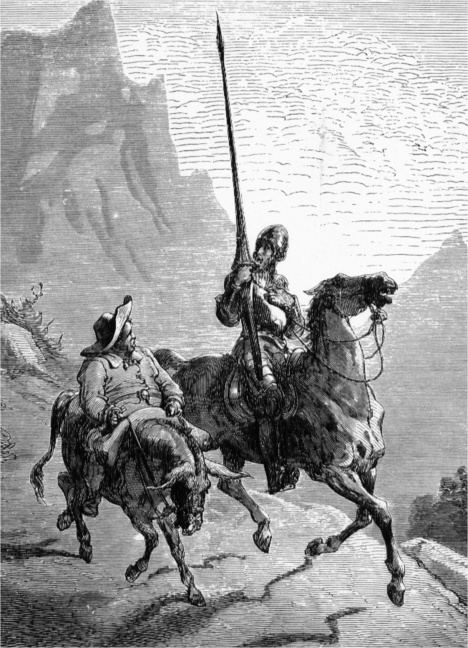 Don Quijote y Sancho Panza. (Ilustración de Gustave Doré).