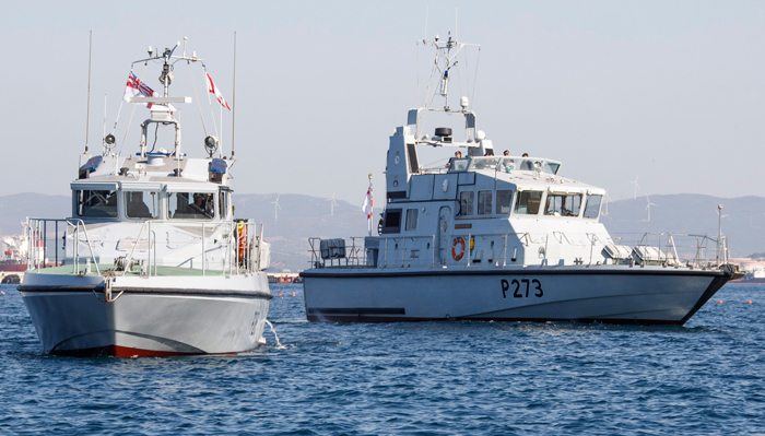 """El HMS Dagger"""" y el """"HMS Cutlass, las nuevas patrulleras inglesas en Gibraltar. (Foto: https://noticiasgibraltar.es/categoria/royal-navy)"""