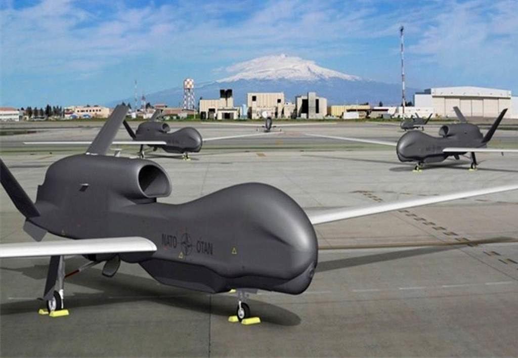 Drones de la OTAN vigilan el Mediterráneo. (Foto: https://espanol.almayadeen.net/).