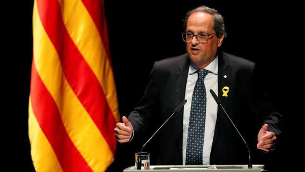Quim Torra, la voz de su amo Puigdemont y representante del Estado Español en Cataluña.