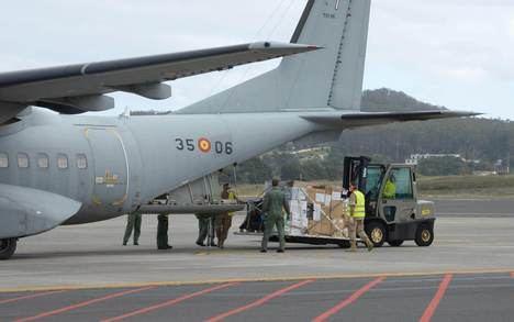 El Ejército del Aire en la 'Operación Balmis'. (Foto: Actualidad Aeroespacial)