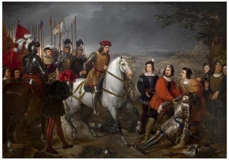 'El Gran Capitán, recorriendo el campo de la batalla de Ceriñola'. Federico de Madrazo y Kuntz. Museo del Prado, Madrid.
