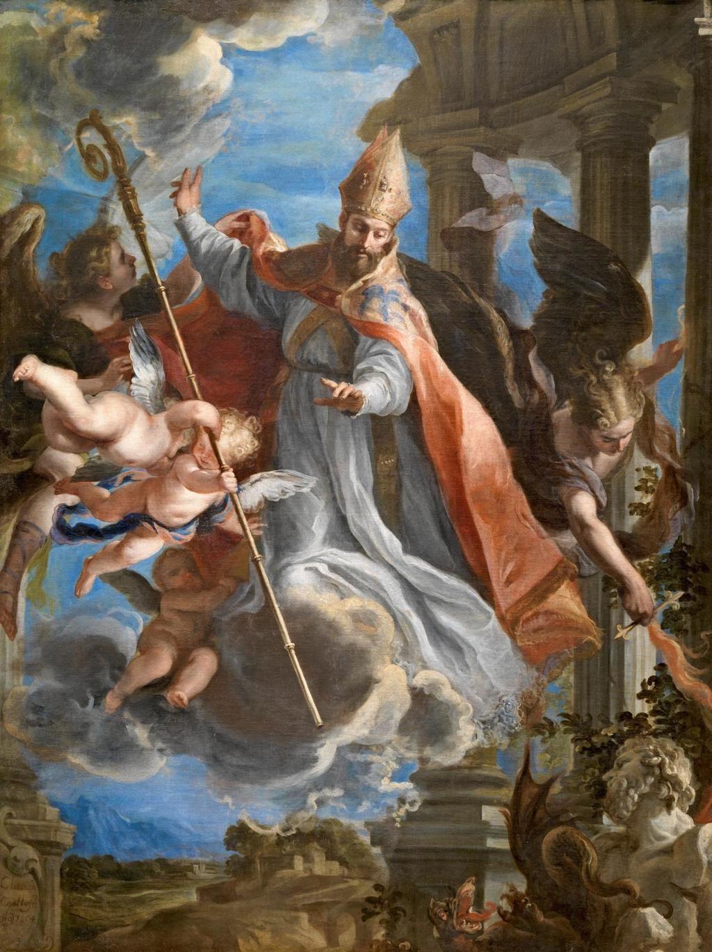 El triunfo de San Agustín, de Claudio Coello. Museo del Prado, Madrid.