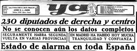 La prensa al día siguiente de las elecciones. (Foto: Archivo de J.M. Mtz. Valdueza)