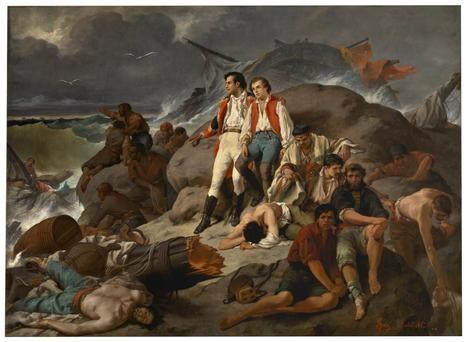 'Episodio de Trafalgar', óleo de Francisco Sans Cabot, 1862. Museo del Prado, Madrid