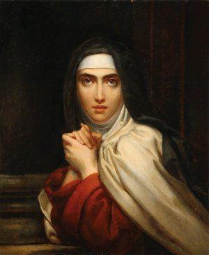Santa Teresa de Ávila. Óleo de Francois Pascal, barón de Gérard (1770-1837) para la capilla de la Enfermería María Teresa de París.