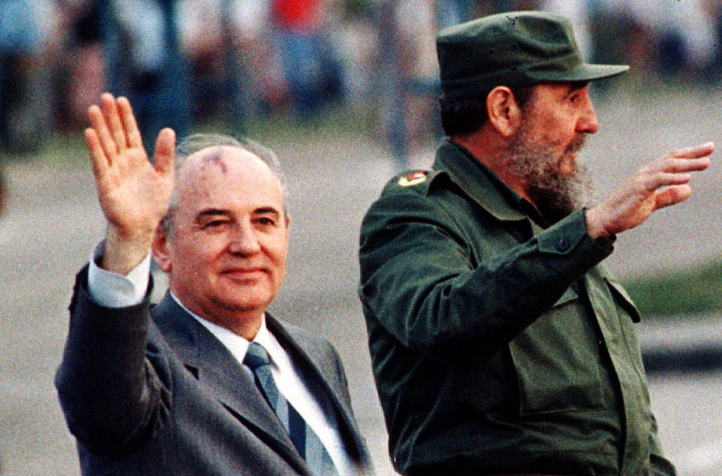 Mijaíl Gorbachov y Fidel Castro